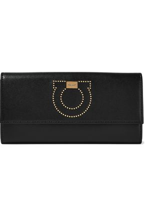 SALVATORE FERRAGAMO Studded leather continental wallet