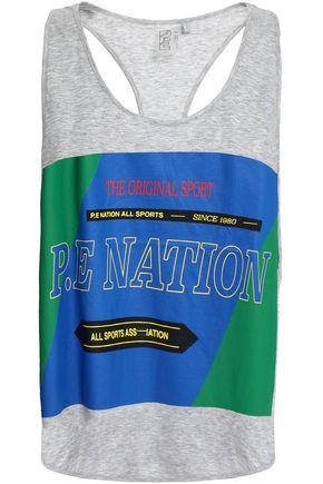 P.E NATION The Countback printed cotton tank
