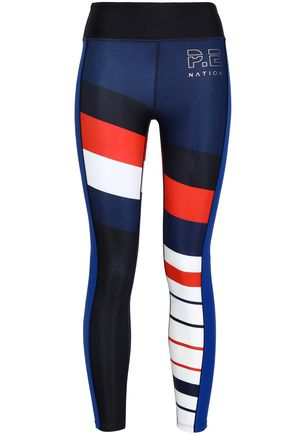 P.E NATION Challenger color-block tech-jersey leggings