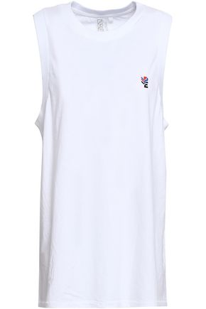P.E NATION Sucker Punch printed cotton-jersey tank