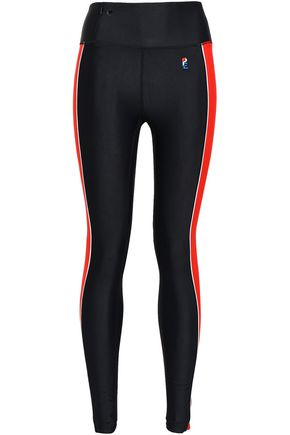P.E NATION Fireball striped tech-jersey leggings