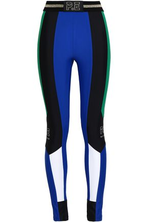 P.E NATION Riseball color-block tech-jersey leggings