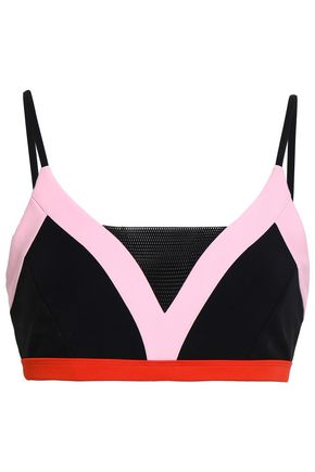 P.E NATION The Elite Eight color-block tech-jersey sports bra