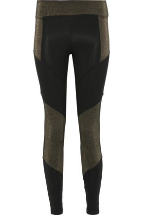 KORAL Versus metallic paneled stretch leggings
