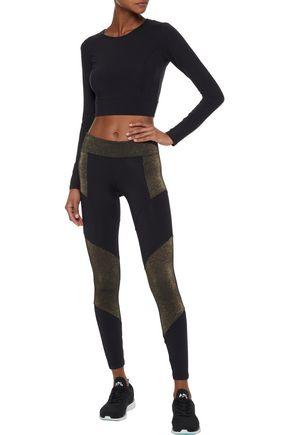KORAL Versus metallic paneled stretch leggings