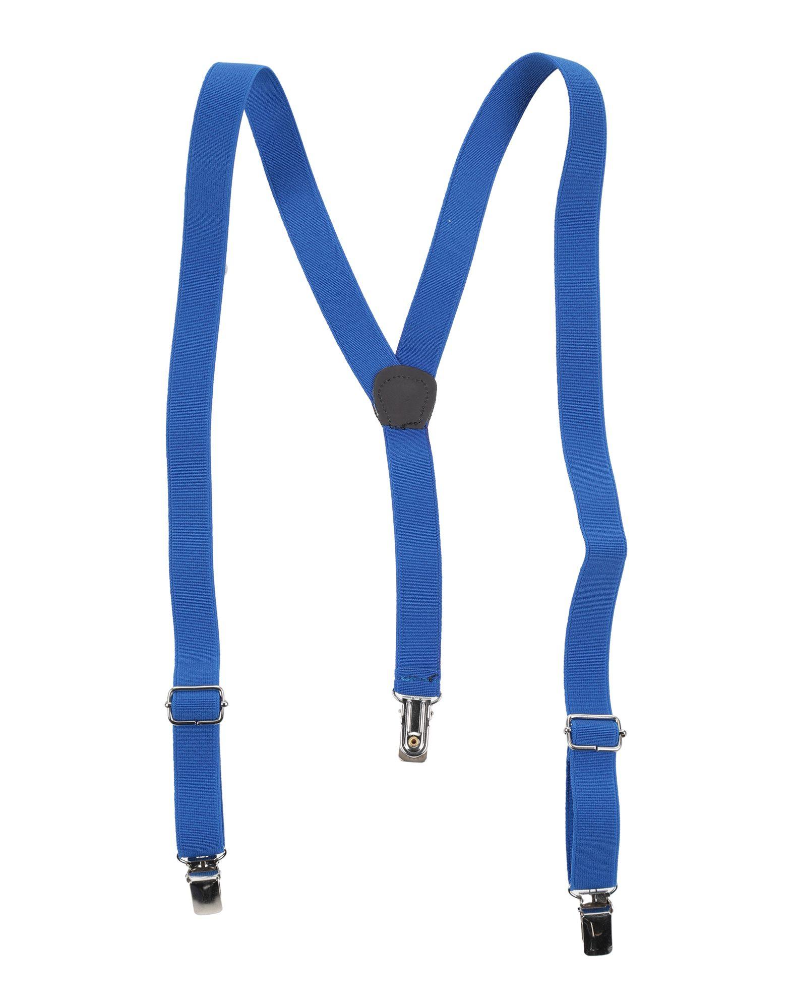 《セール開催中》DANIELE ALESSANDRINI ボーイズ 9-16 歳 サスペンダー ブルー 10 紡績繊維 / 革 / 金属
