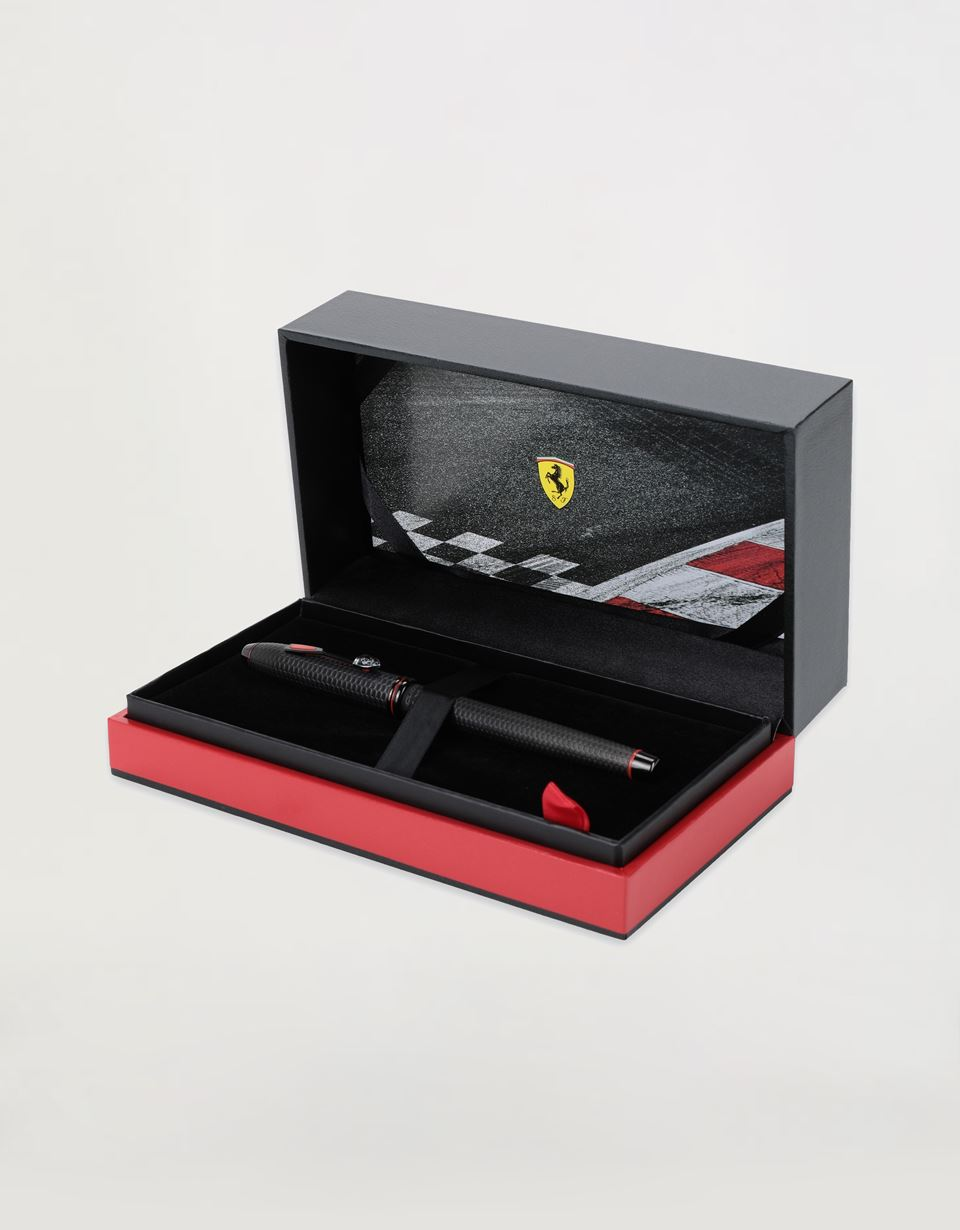 Scuderia Ferrari Online Store - Cross Townsend Scuderia Ferrari fountain pen with black PVD coating and medium nib - Fountain Pens