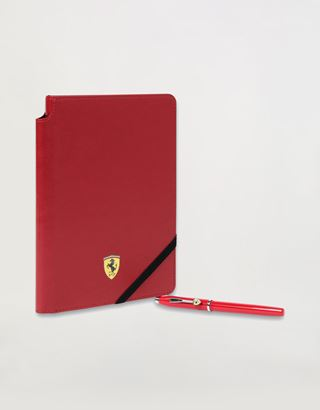 Scuderia Ferrari Online Store - Cross Century II Scuderia Ferrari rollerball pen and faux red leather notepad set - Roller Pens