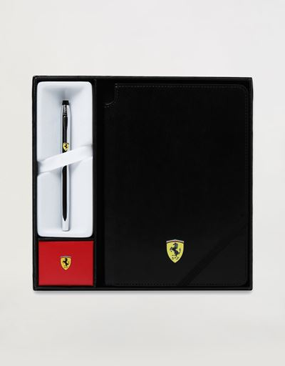 Cross Century II Scuderia Ferrari gift set comprising rollerball pen and black faux leather notepad