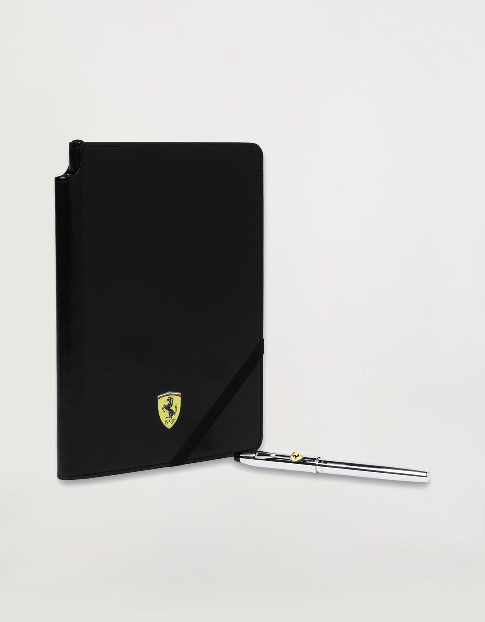 Scuderia Ferrari Online Store - Cross Century II Scuderia Ferrari gift set comprising rollerball pen and black faux leather notepad - Roller Pens