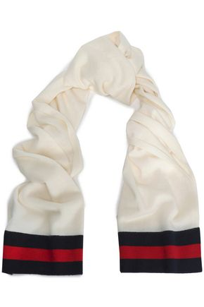 f7a8d0350512a MADELEINE THOMPSON Checked intarsia-knit wool and cashmere-blend scarf