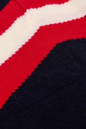 MADELEINE THOMPSON Intarsia-knit wool and cashmere-blend beanie