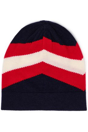 MADELEINE THOMPSON Intarsia-knit wool and cashmere-blend beanie