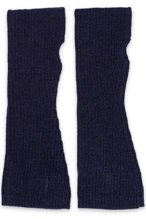 MADELEINE THOMPSON Phoebe wool and cashmere-blend fingerless gloves