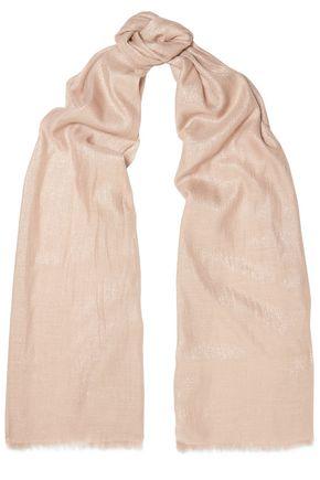 BRUNELLO CUCINELLI Frayed cashmere-blend scarf