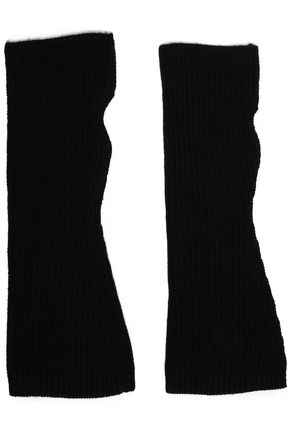 MADELEINE THOMPSON Ribbed wool and cashmere-blend fingerless gloves