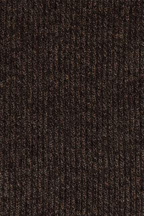 N.PEAL リブ編みカシミヤ スカーフ