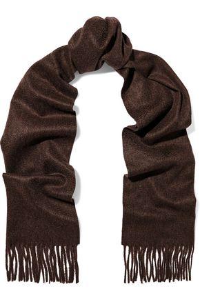 N.PEAL Fringe-trimmed cashmere scarf