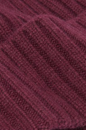 N.PEAL Ribbed cashmere beanie
