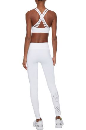 PEPPER & MAYNE Saskia laser-cut stretch leggings