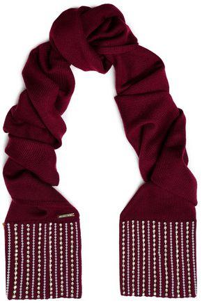 MICHAEL MICHAEL KORS Embellished merino wool scarf