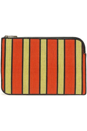 DIANE VON FURSTENBERG Striped woven wallet