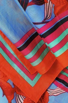 DIANE VON FURSTENBERG Floral-print cotton and silk-blend scarf