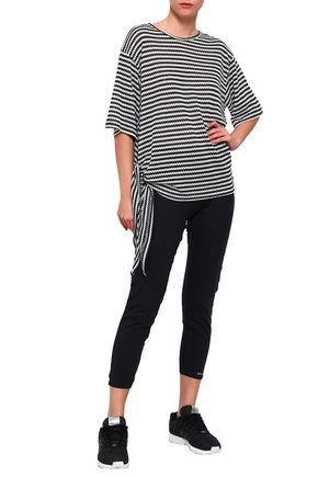 PEPPER & MAYNE Knotted mélange ribbed-knit T-shirt