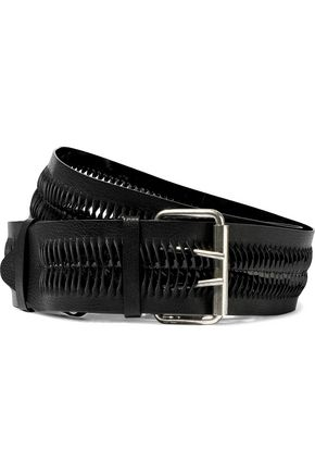 ANN DEMEULEMEESTER Laser-cut textured-leather belt