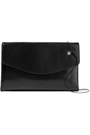 ANN DEMEULEMEESTER Glossed-leather clutch