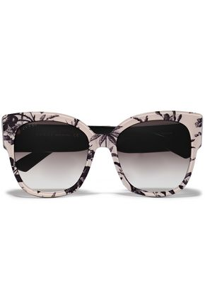 022cd66b5590 GUCCI D-frame floral-print acetate sunglasses
