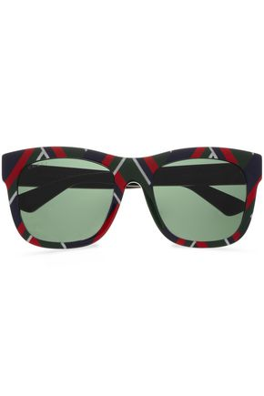 GUCCI D-frame printed acetate sunglasses