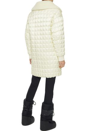 FUSALP Shearling-trimmed quilted shell down jacket