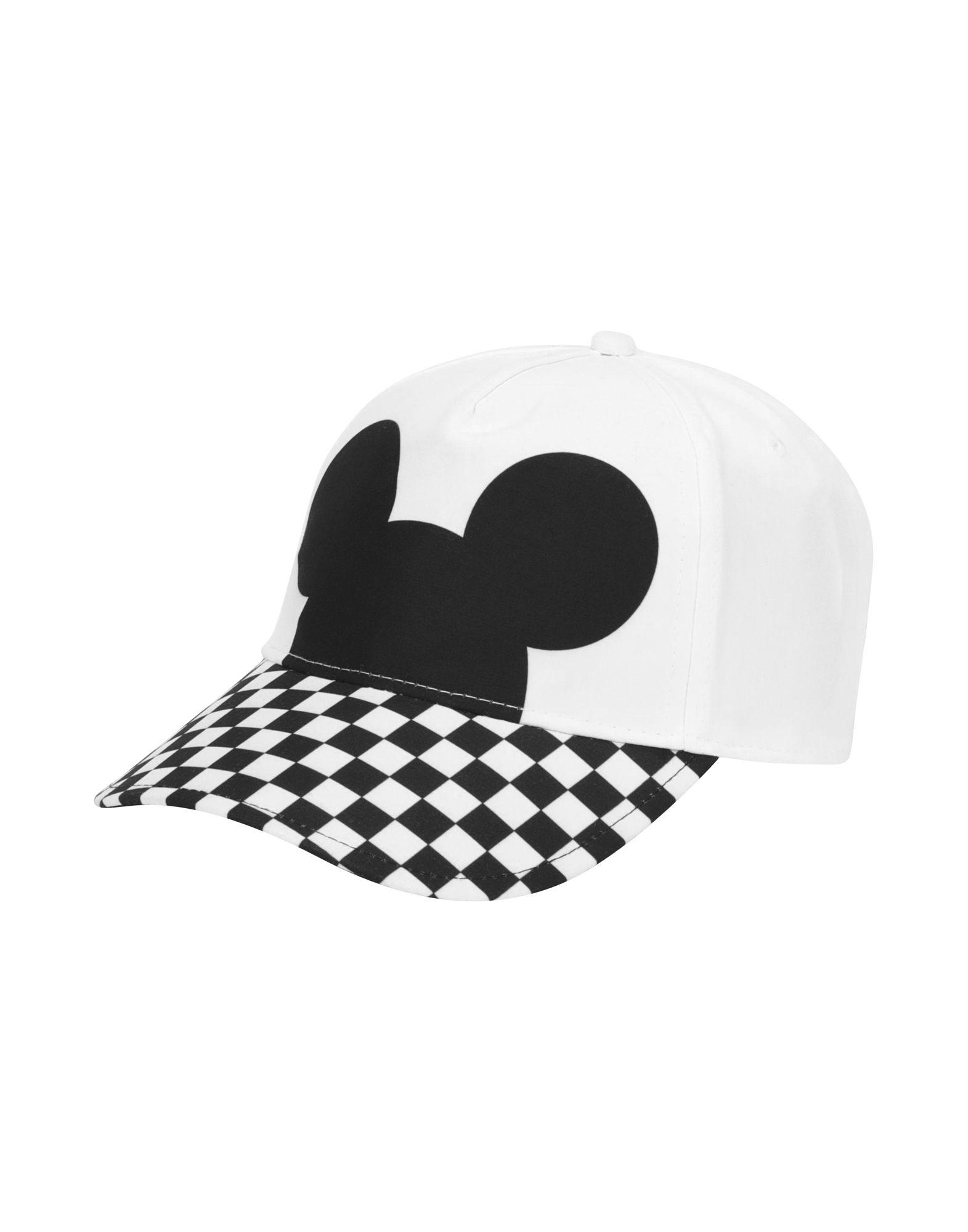 《送料無料》VANS メンズ 帽子 ホワイト one size ポリエステル 100% CHECKERBOARD MICKEY