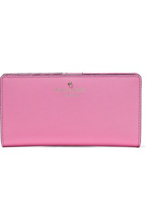 KATE SPADE New York Stacy textured-leather continental wallet