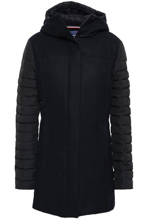 FUSALP Quilted shell-paneled wool-blend hooded jacket