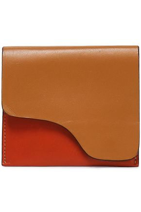 ATP ATELIER Two-tone leather cardholder