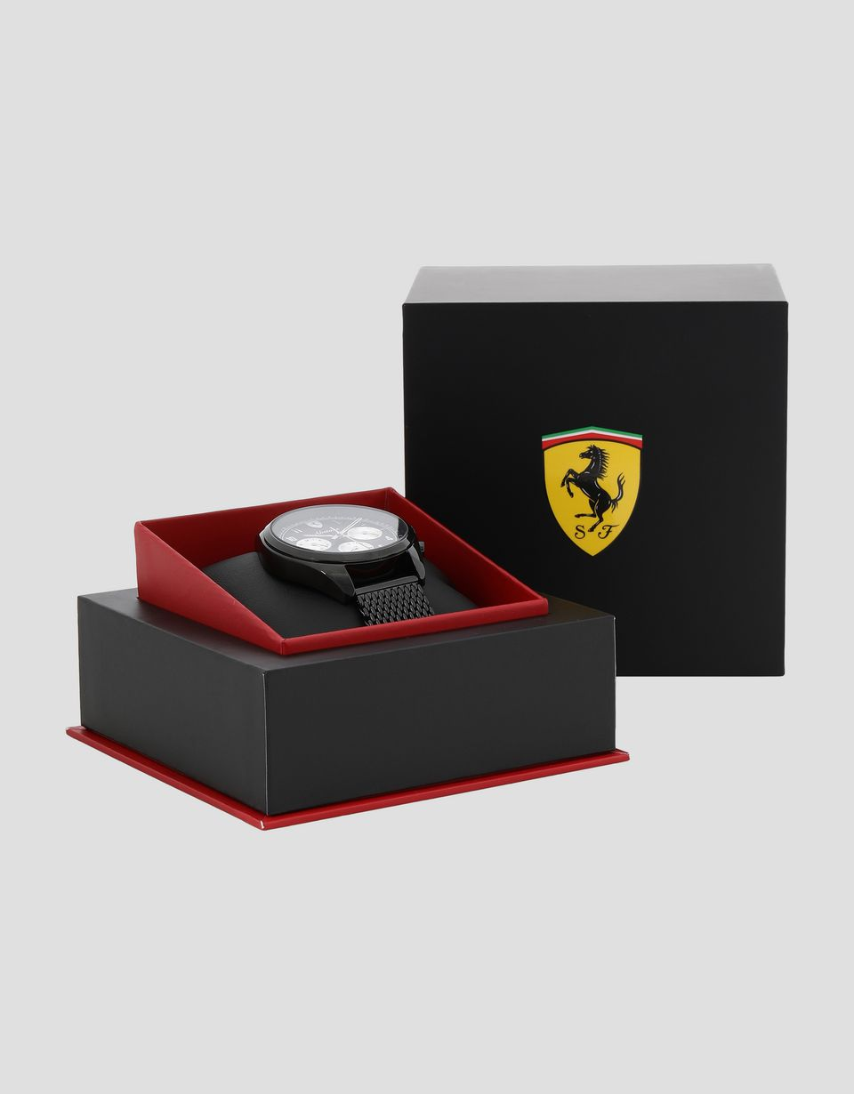 Scuderia Ferrari Online Store - Abetone multifunction watch with black wrist strap -
