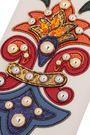 DOLCE & GABBANA Embellished ayers-appliquéd textured-leather iPhone 7 case