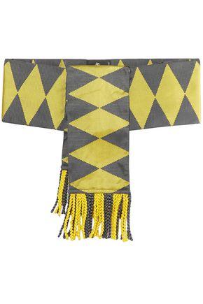 ETRO Fringed silk-jacquard waist belt