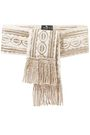 ETRO Fringed embroidered grosgrain waist belt