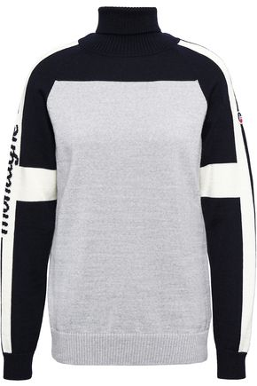 FUSALP Intarsia-knit hooded top