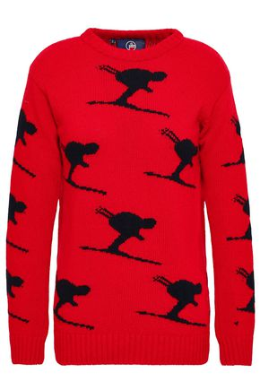 FUSALP Intarsia-knit wool and cashmere-blend sweater