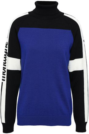 FUSALP Intarsia-knit hooded sweater