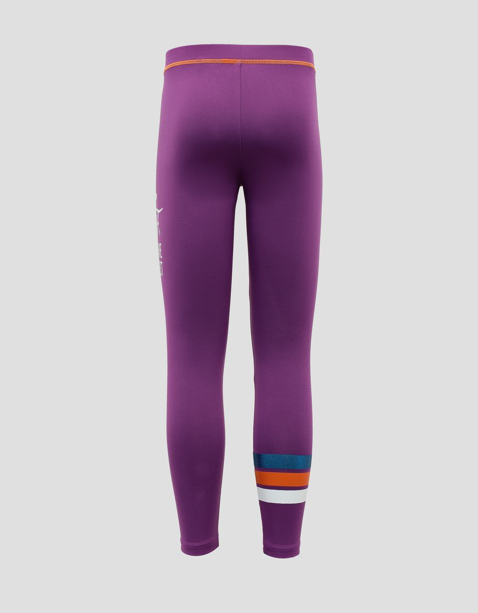 "Scuderia Ferrari Online Store - Girls' leggings with ""GIRLS ARE THE BEST"" glitter print - Tights & Yoga Pants"