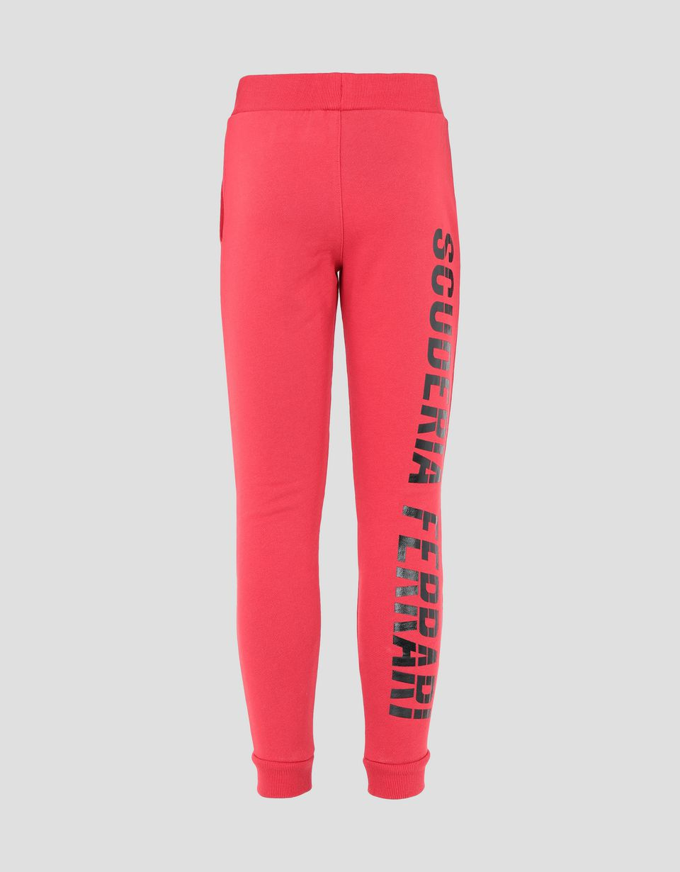 Scuderia Ferrari Online Store - Children's joggers in French Terry with Scuderia Ferrari print - Joggers