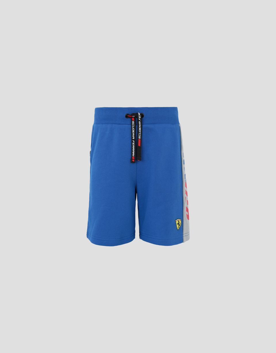 Scuderia Ferrari Online Store - Children's French terry shorts with RED SOUL wording - Shorts