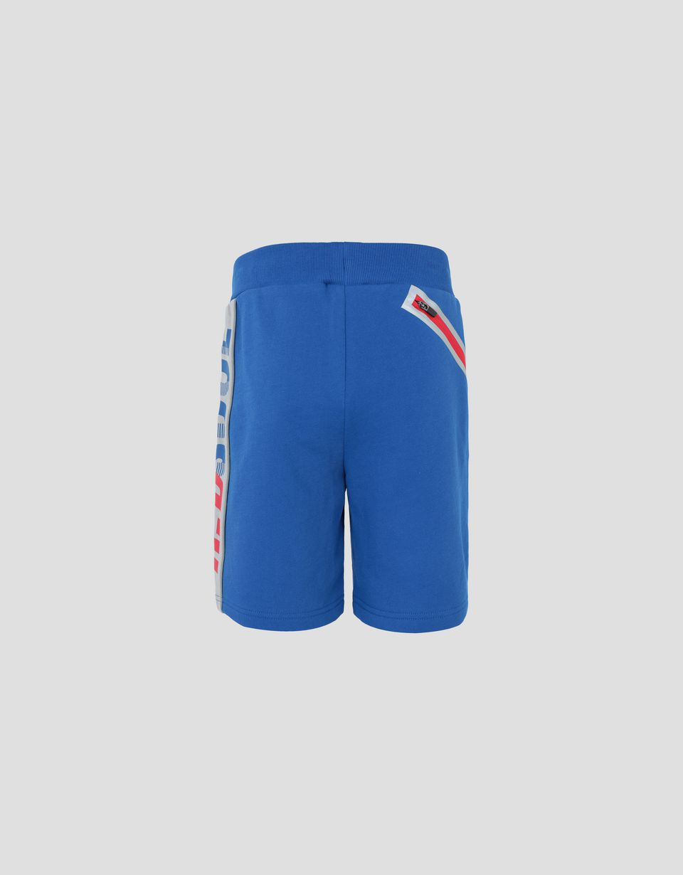 Scuderia Ferrari Online Store - Children's shorts in French Terry with the words RED SOUL - Shorts