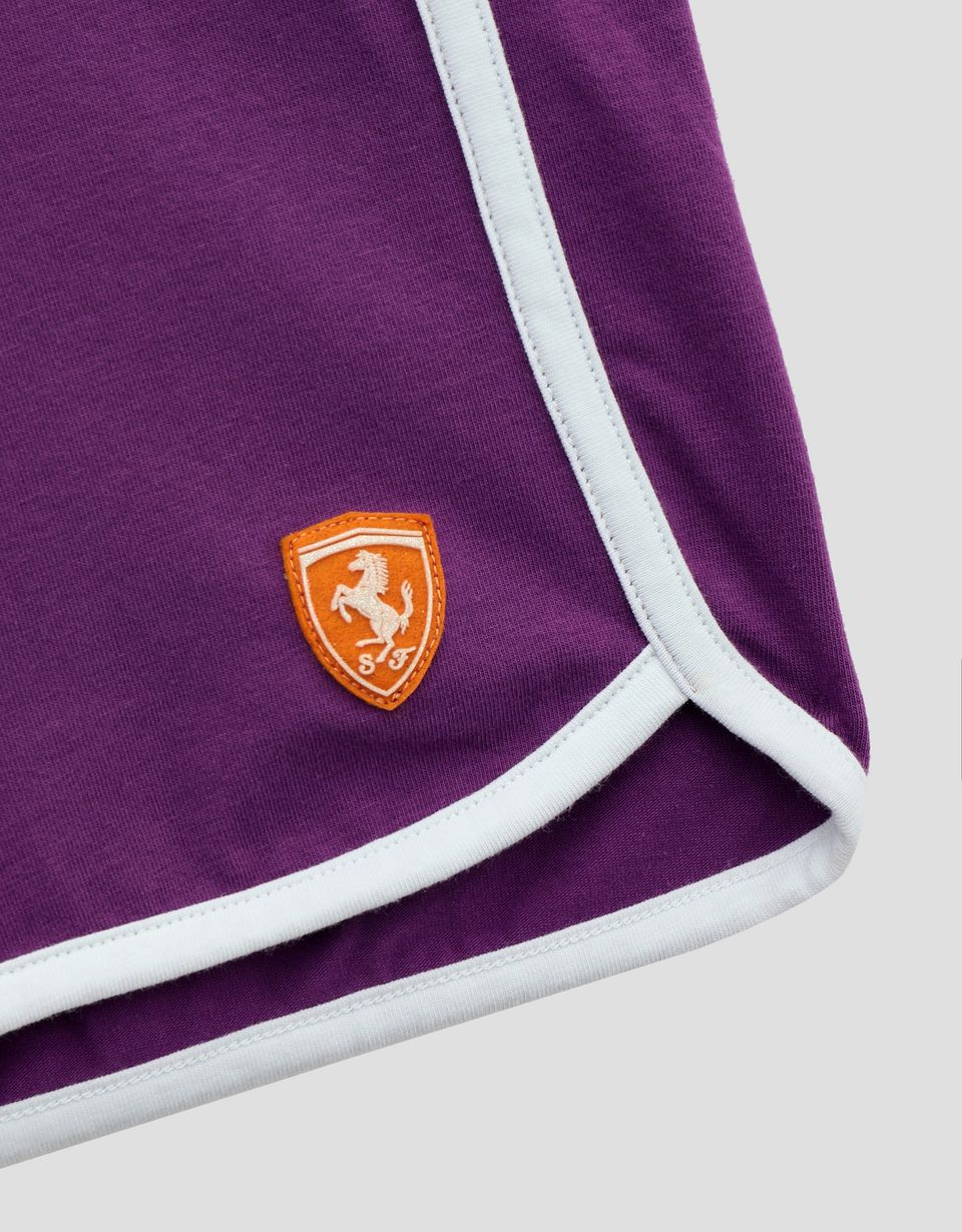 Scuderia Ferrari Online Store - Girls' jersey shorts with contrasting edging -