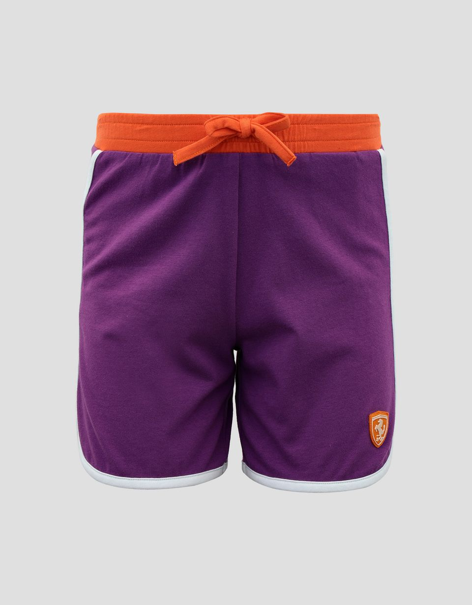 Scuderia Ferrari Online Store - Girls' jersey shorts with contrasting edging - Shorts